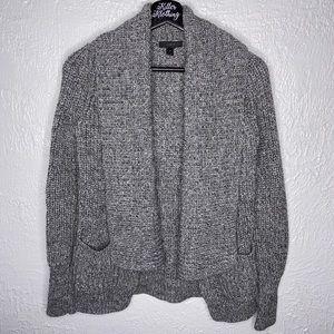 J. Crew Grey Knitted Cardigan Sweater
